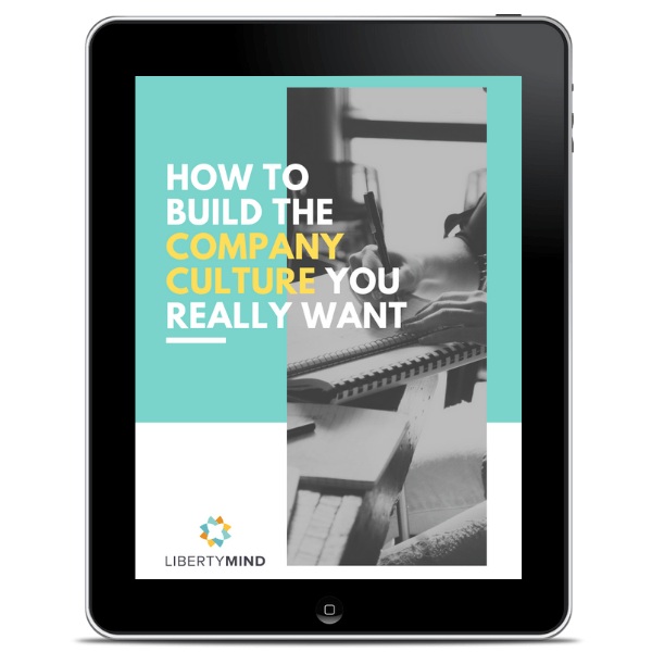 An iPad displaying the front cover of a book about company culture