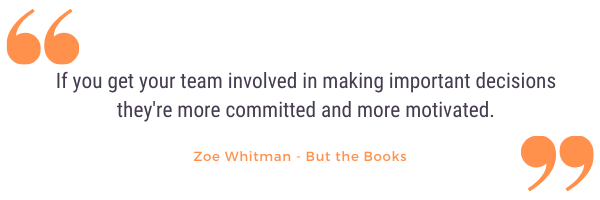 zoe whitman graphic of quote on company culture podcast