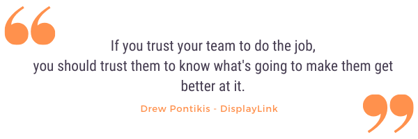 Drew pontikis quote from company culture podcast