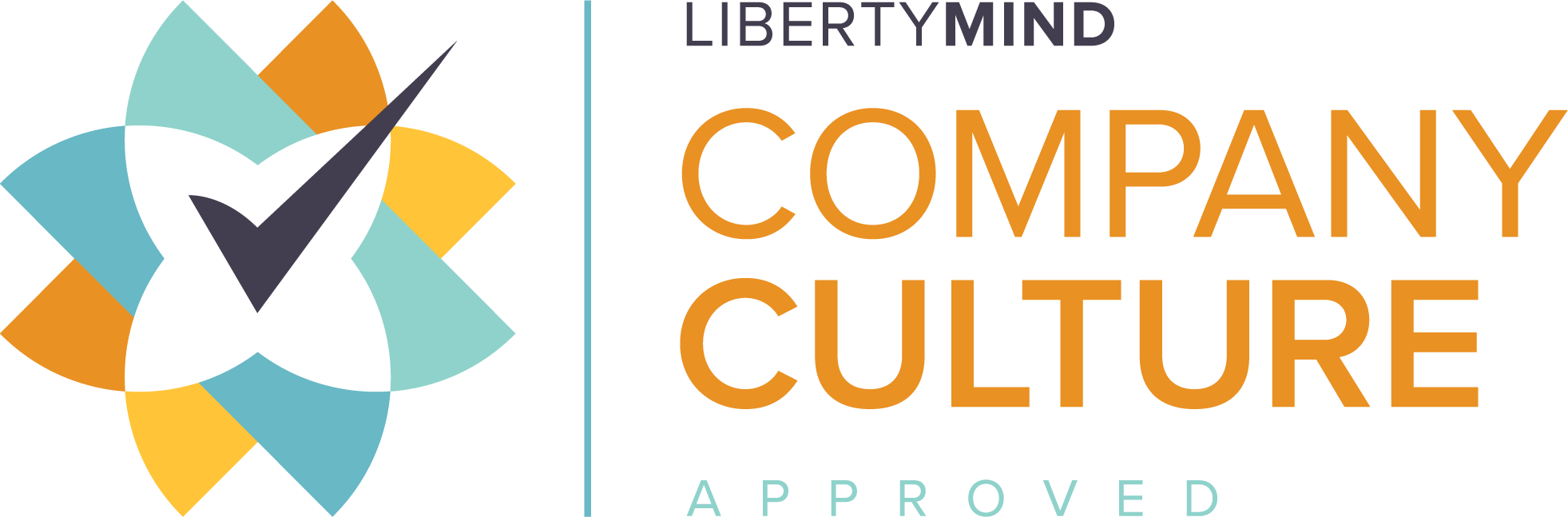 The logo of the Liberty Mind company culture accreditation.