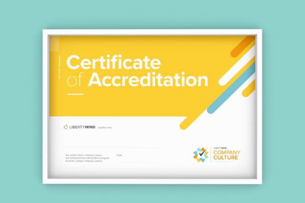 a picture of the Company Culture Accreditation certificate.