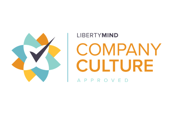 the Liberty Mind company culture Accreditation logo