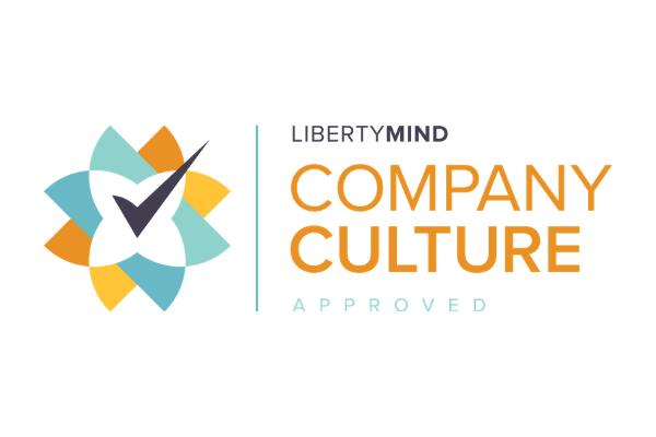 the Liberty Mind company culture Accreditation logo