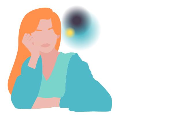 illustration of woman thinking