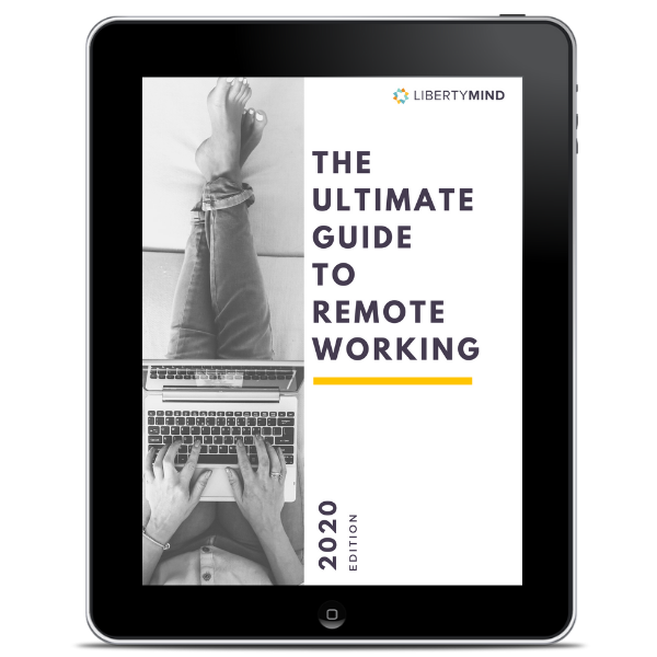 picture of ipad with ebook about remote working