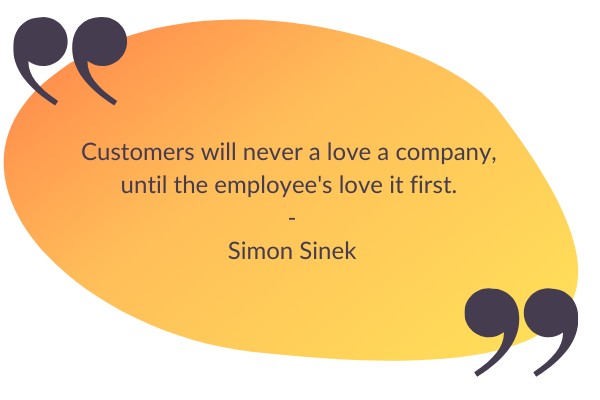 graphic of company culture quote by simon sinek