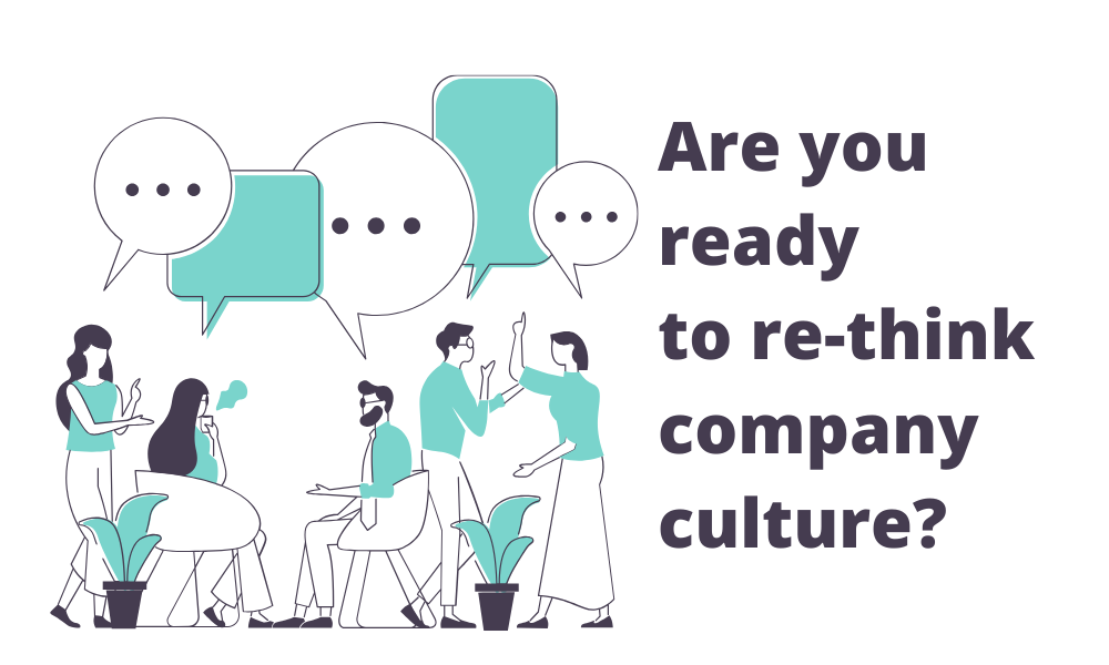 illustration graphic about re-thinking company culture after coronavirus