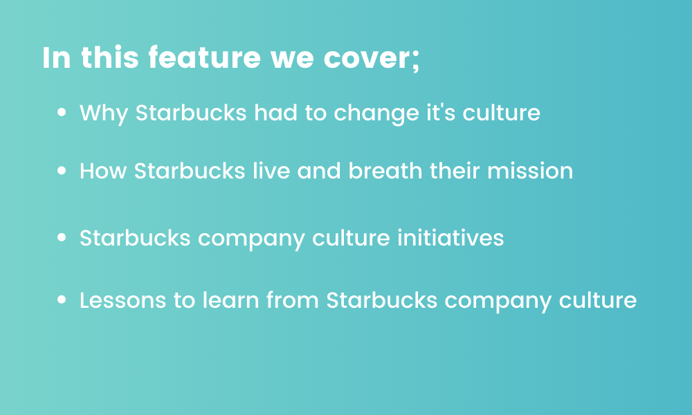 graphic detailing points about Starbucks company culture