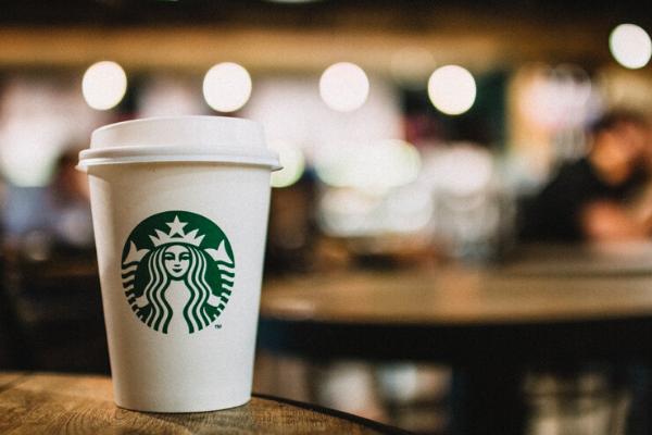 starbucks coffee in a starbucks coffee shop