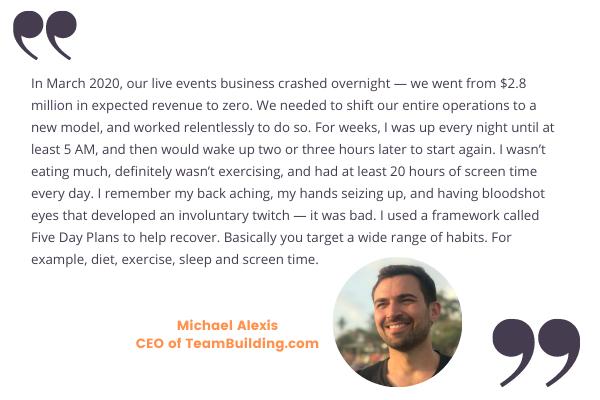Michael Alexis talks about Founder burnout